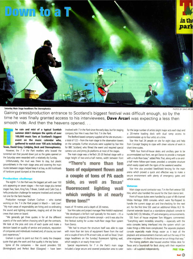 Live! Magazine: T in the Park - p1