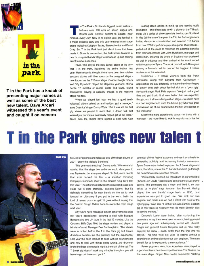 Making Music: T in the Park - p1