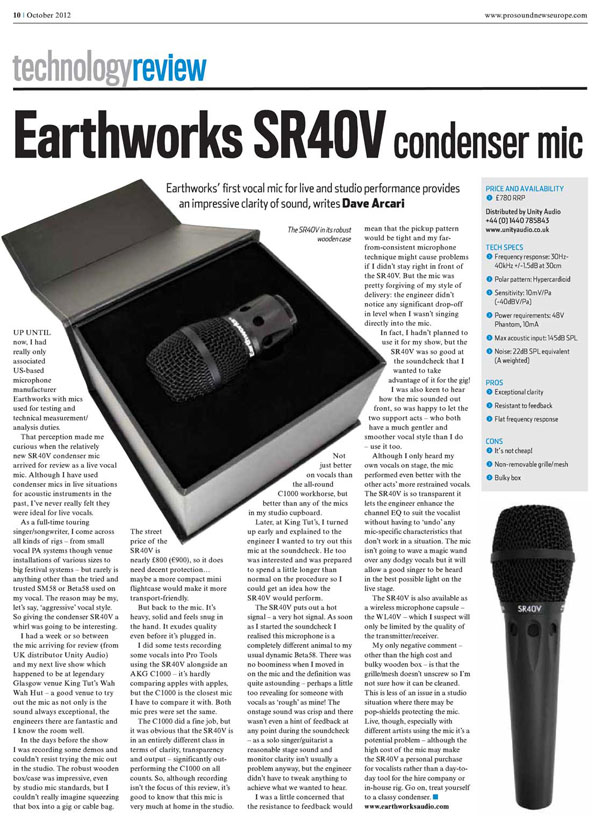 ProSoundNews Europe: mic review