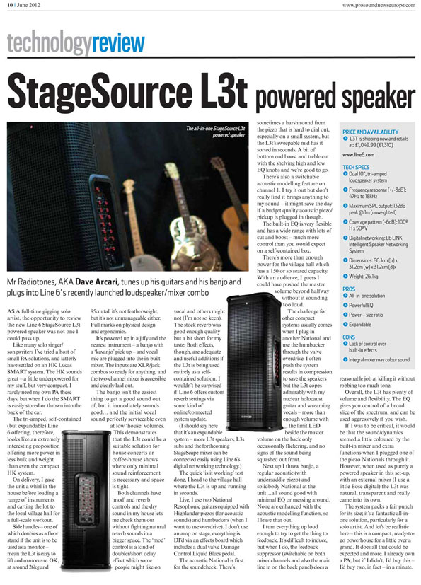 ProSoundNews Europe: PA review